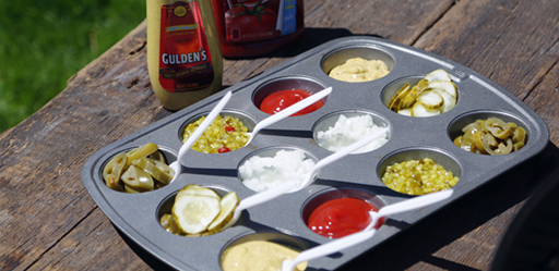 condiments-in-muffin-tin